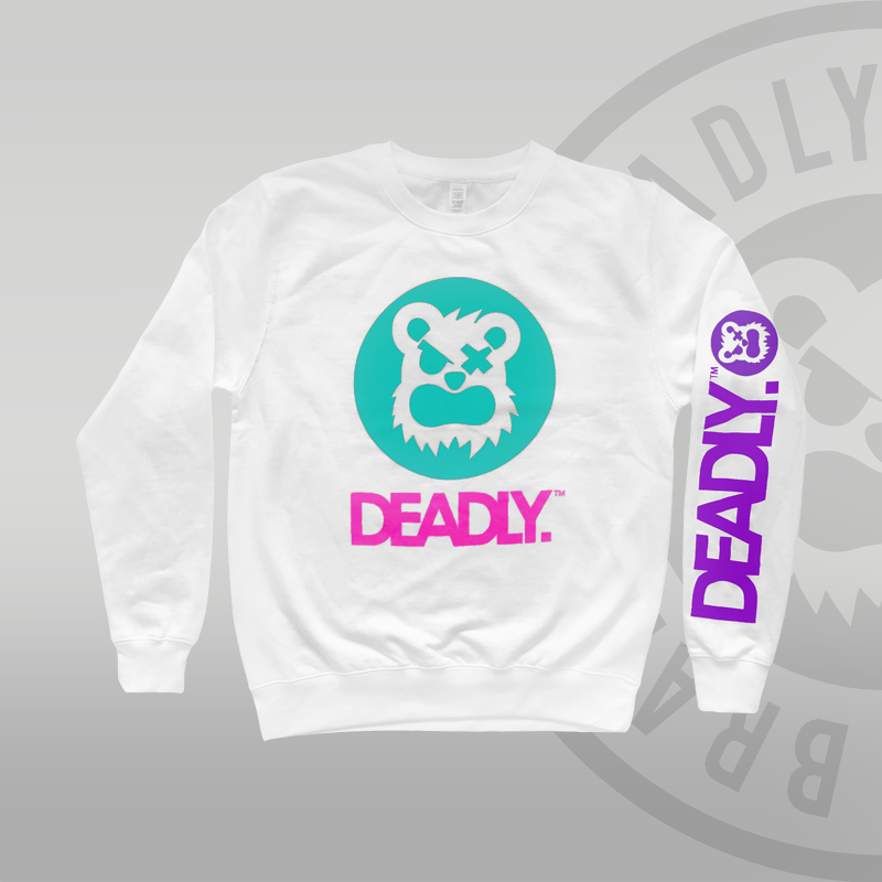 DEADLY. SPORTS Sweat Top White