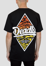 DEADLY. WORLDWIDE Tiger Print T-shirt (With Back Print) Limited Edition
