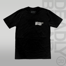 DEADLY BRAND® Coding T-shirt white print black t-shirt