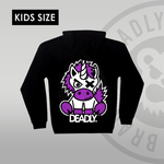 Youth / Kids Deadly Unicorn Pullover Hoodie back print