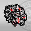 Deadly Wolf Traditional Sticker 10cm