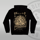 DEADLY. Worldwide Order Black Pullover Hoodie Oversized large back print gold