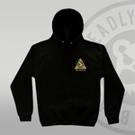 DEADLY. Worldwide Order Black Pullover Hoodie front print