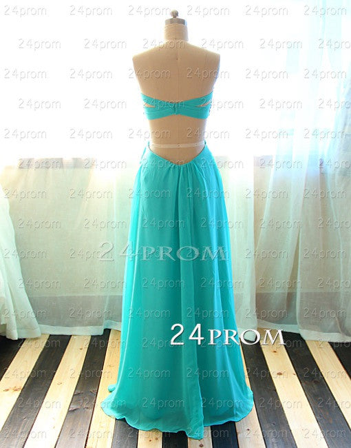 A-line Sweetheart Green Lace Long Prom Dress,Formal Dress