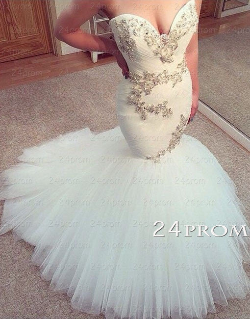 Custom Made Sweetheart Mermaid Wedding Dresses