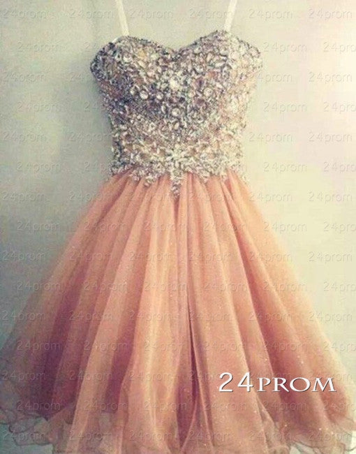 Amazing Sweetheart Rhinestone Prom Dresses,Homecoming Dresses