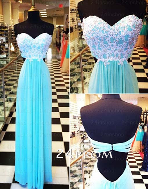 Sweetheart A-line Sequin Long Lace Prom Dress, Formal Dress