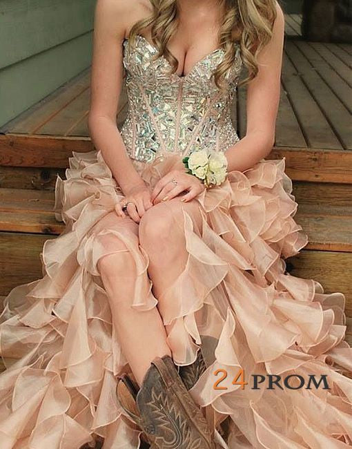 Charming Sweetheart flouncing Prom Dresses, Evening Dresses