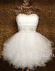 White Sweetheart Ball Gown Short Prom Dresses, Homecoming Dresses