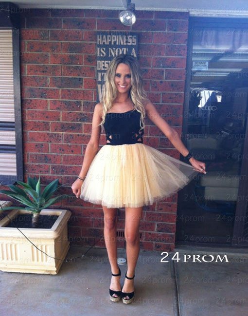 Simple Tulle Sweetheart Short Prom Dresses, Homecoming Dresses