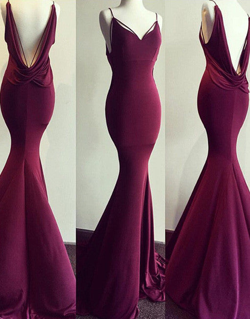 Burgundy Evening Gowns