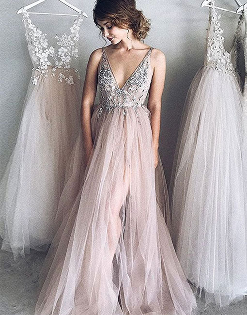 tulle evening gowns