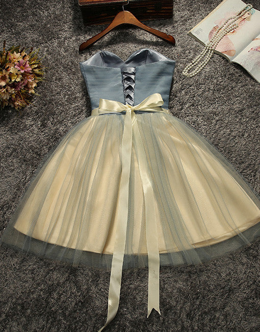 Cute tulle short prom dresss, Cute homecoming dress