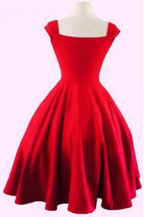 Simple Red sweetheart short prom dress, homecoming dress