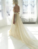 Custom Made Simple A-line chiffon long prom dress, evening dress