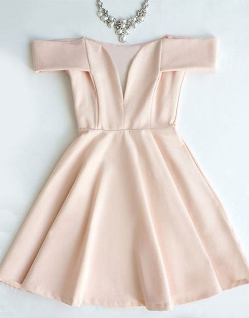 Pink short prom dress, cute pink homecoming dress
