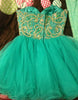 Green Sweetheart Tulle Short Prom Dresses,Homecoming Dress