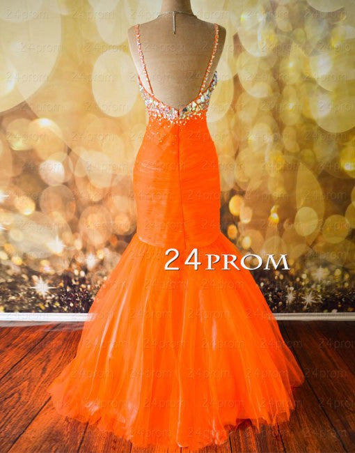 Sweetheart Rhinestone Organza Long Prom Gown, Evening Dresses
