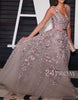 Custom made A-line tulle long prom dress, evening dress