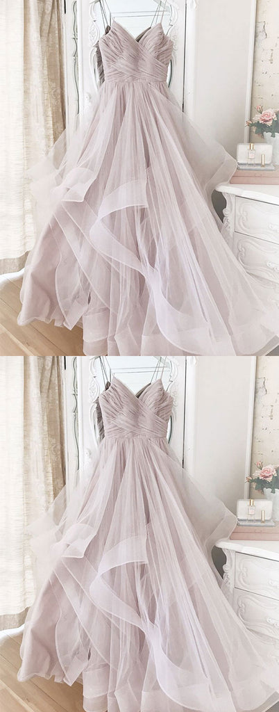 Simple sweetheart tulle long prom dress tulle formal dress