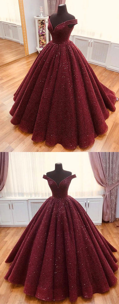 Burgundy tulle off shoulder long prom dress burgundy evening dress