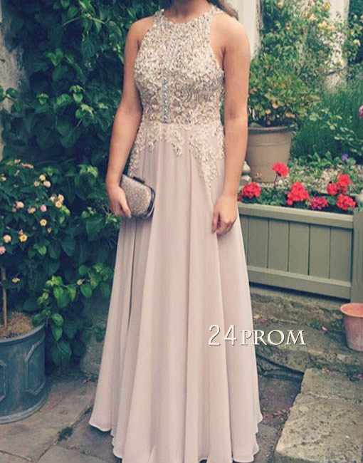 Custom made A-line lace sequin long prom dress,evening dress