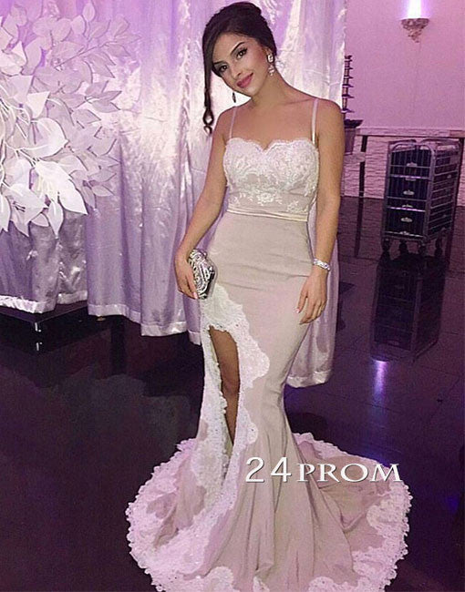 Custom made off shoulder lace mermaid long prom dress, bridesmaid dress