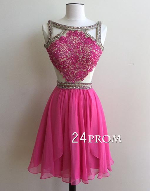 Custom made lace short prom dresses, homecoming dress