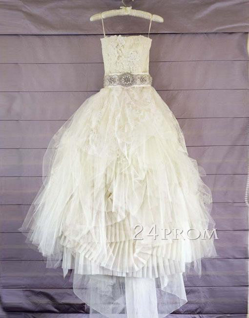 Custom Made Lace Long Wedding Gown,Bridal Dresses