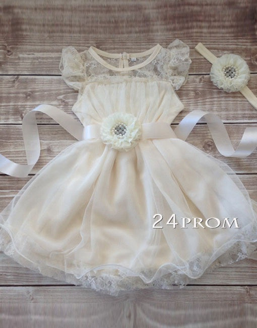 Flower girl dress, lace dress, lace baby dress