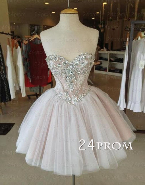 A-line Sweetheart Tulle Short Prom Gown,Homecoming Dress