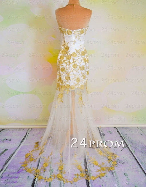 Custom Made A-line Sweetheart Lace Tulle Long Prom Dress, Formal Dresses