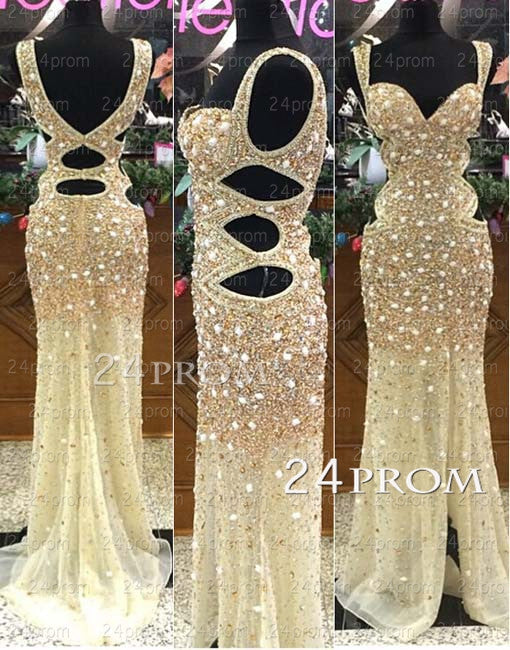 A-line Sweetheart Neckline Tulle Backless Long Prom Dresses, Evening Dresses
