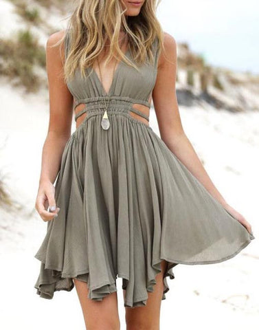 Simple v neck chiffon short prom dress, homecoming dress