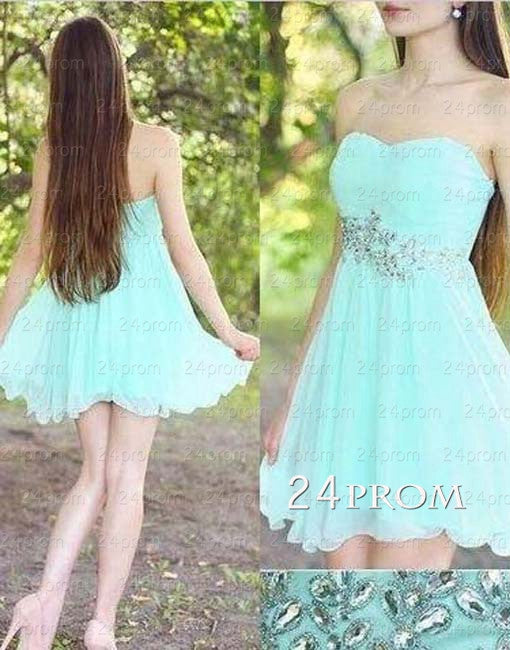 Light Green Sweetheart Short Prom Dresses,Homecoming Dresses
