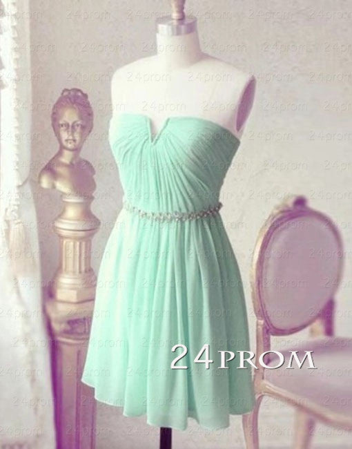 Simple A-line Green Short Prom Dresses, Homecoming Dresses