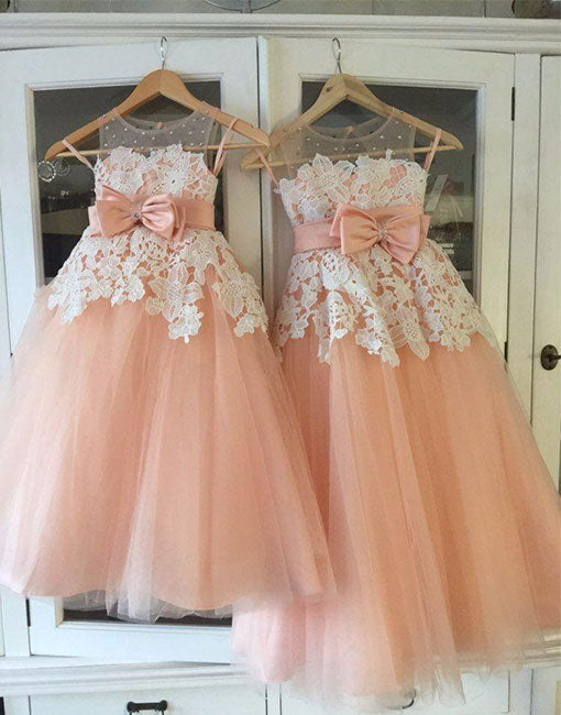 Pink tulle lace flower girl dress baby dress prom24 pink tulle lace flower girl dress baby dress mightylinksfo