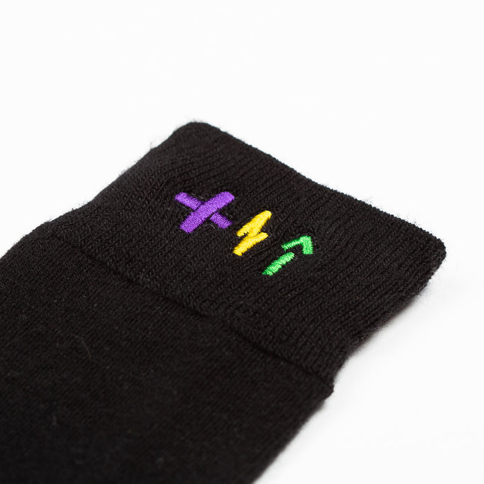 Custom sewn and embroidered socks