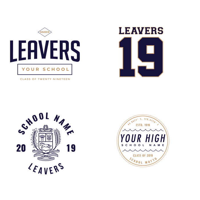 Leavers Gear designs ready for your 2019 school merch.