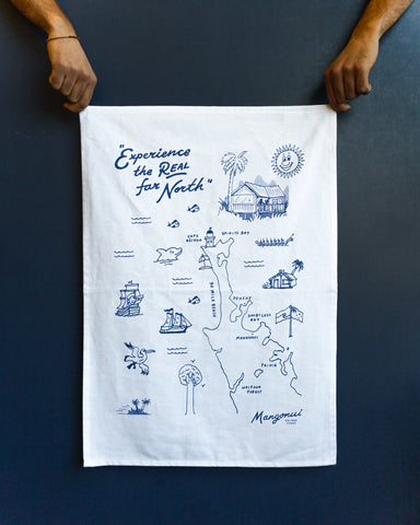 Eco-friendly waterbased screen printed tea towels