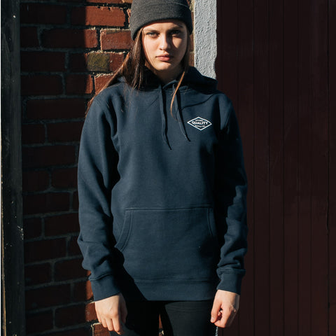 School Leavers - AS Colour Chalk Hoodie Navy - The Print Room
