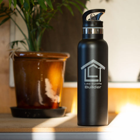 Reusable branded drink bottle eco-friendly