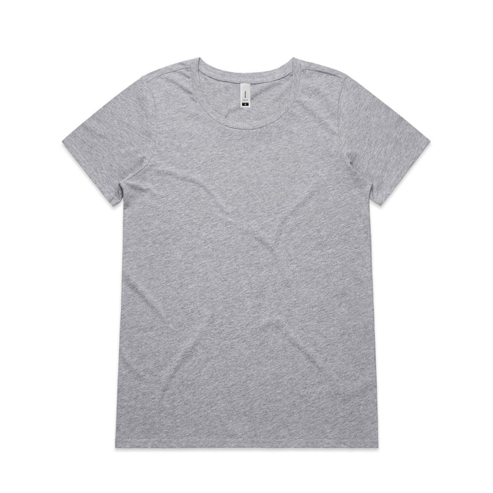Scoop Neck - Wo's Shallow Scoop Tee - 4011