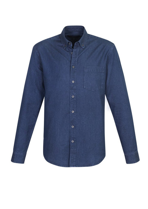 Shirt - BizCollection S017ML Indie Mens Long Sleeve Shirt