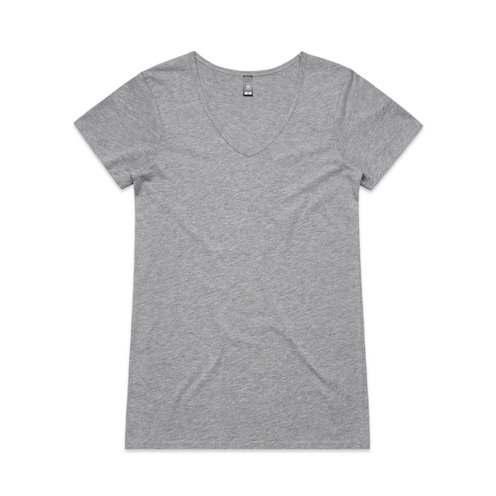 T-Shirts - Wo's Bevel V-Neck Tee - 4010