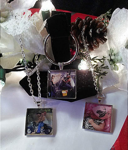 Photo key rings square