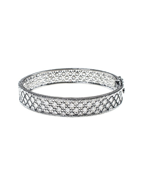 Black Rhodium Filigree Bangle
