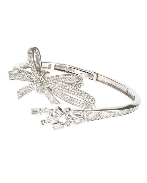 Pave Bow Bangle