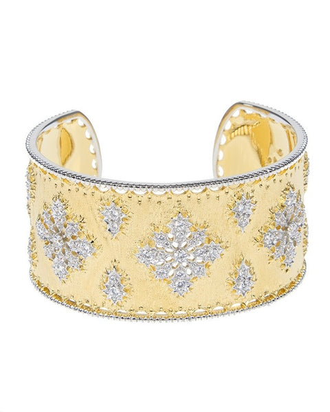 Ornate Matte Gold Cuff