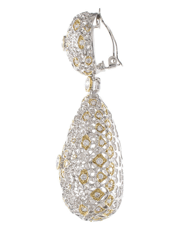 Large Filigree Drop Earrings